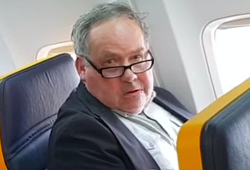 Ryanair passenger denies he is racist after tirade at elderly woman