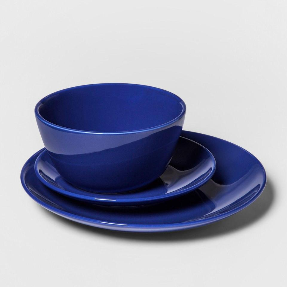 """<p><a class=""""link rapid-noclick-resp"""" href=""""https://www.target.com/p/12pc-avesta-stoneware-dinnerware-set-blue-project-62-153/-/A-53133556"""" rel=""""nofollow noopener"""" target=""""_blank"""" data-ylk=""""slk:BUY NOW"""">BUY NOW</a> <strong><em>$20, target.com</em></strong><br></p><p>Target lists this as a bestseller on its site. Well, Target lists <em>all six colors</em> of this 12-piece set as bestsellers.</p>"""