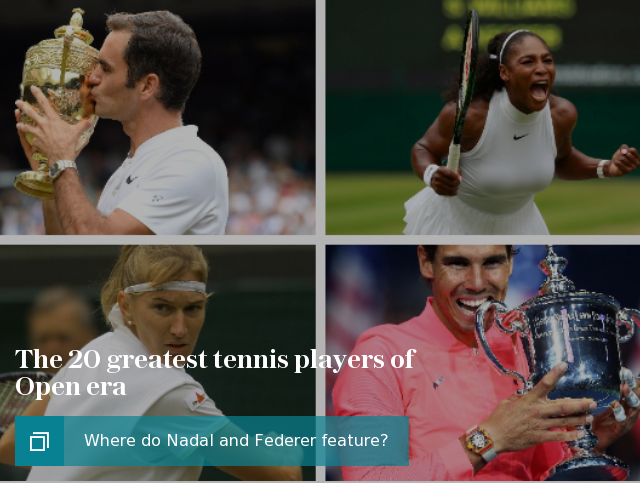 The 20 greatest tennis players of Open era