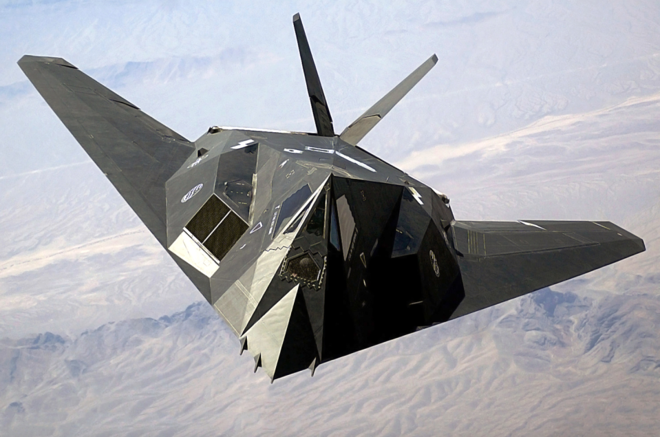 """<p>All the rage in the 1980s, this multifaceted """"stealth fighter"""" was designed to evade enemy radar and deploy up to <a href=""""https://www.nationalmuseum.af.mil/Visit/Museum-Exhibits/Fact-Sheets/Display/Article/198056/lockheed-f-117a-nighthawk/"""" rel=""""nofollow noopener"""" target=""""_blank"""" data-ylk=""""slk:5,000 pounds"""" class=""""link rapid-noclick-resp"""">5,000 pounds</a> of bombs on enemy targets with little warning. F-117s flew into Baghdad on the <a href=""""https://www.wearethemighty.com/mighty-history/the-original-stealth-fighter-absolutely-destroyed-in-desert-storm/#:~:text=But%20it%20was%20Desert%20Storm,left%20the%20city's%20lights%20on"""" rel=""""nofollow noopener"""" target=""""_blank"""" data-ylk=""""slk:opening night of Operation Desert Storm"""" class=""""link rapid-noclick-resp"""">opening night of Operation Desert Storm</a>, hitting Iraq's heavily-defended command and control facilities. </p>"""