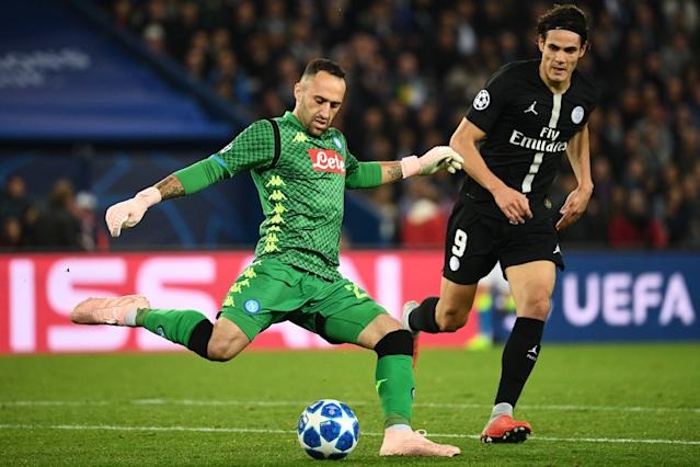 David Ospina Napoli - PSG Champions League 2018
