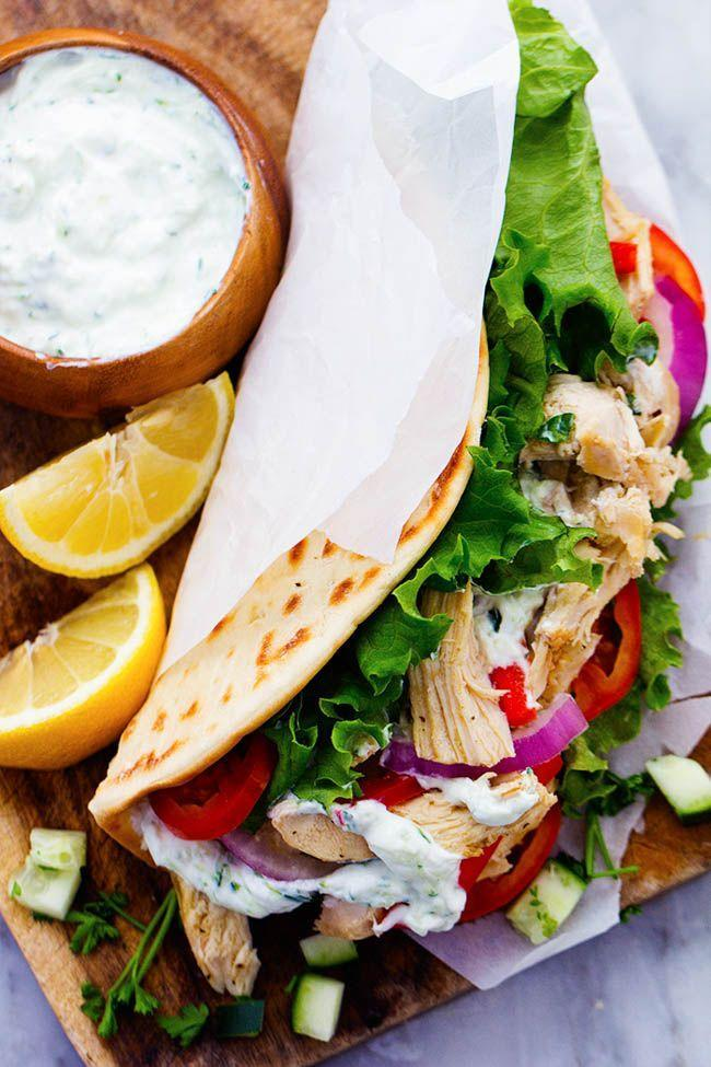"""<p>The only thing better than warm chicken gyros? Homemade tzatziki sauce for creamy, delicious dipping. </p><p><em><a href=""""http://therecipecritic.com/2016/01/slow-cooker-greek-chicken-gyros-with-tzatziki/"""" rel=""""nofollow noopener"""" target=""""_blank"""" data-ylk=""""slk:Get the recipe from The Recipe Critic »"""" class=""""link rapid-noclick-resp"""">Get the recipe from The Recipe Critic »</a></em></p><p><strong>RELATED:</strong> <a href=""""https://www.goodhousekeeping.com/food-recipes/g605/family-style-recipes/"""" rel=""""nofollow noopener"""" target=""""_blank"""" data-ylk=""""slk:30+ Family-Style Dinners That Will Please Any Crowd"""" class=""""link rapid-noclick-resp"""">30+ Family-Style Dinners That Will Please Any Crowd</a></p>"""