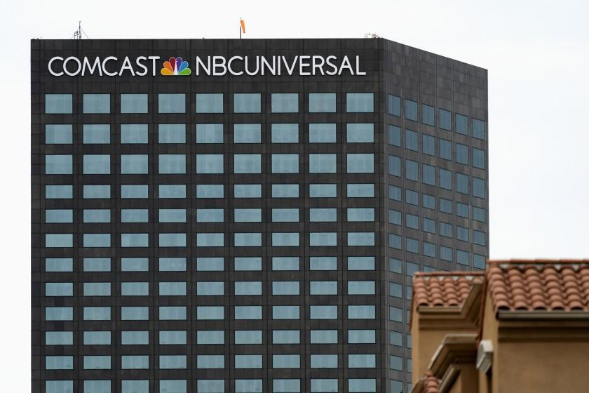 LOS ANGELES, CA, UNITED STATES - 2019/02/12: A view of the Comcast NBCUniversal building in Universal City, California. (Photo by Ronen Tivony/SOPA Images/LightRocket via Getty Images)