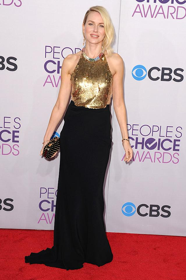 Naomi Watts attends the 2013 People's Choice Awards at Nokia Theatre L.A. Live on January 9, 2013 in Los Angeles, California.
