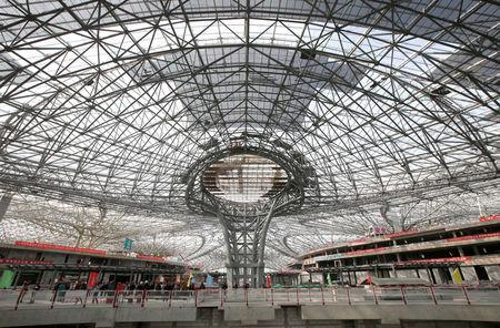 The inner view of the terminal hall of new Daxing Airport constructed on the outskirts of Beijing, China October 16, 2017. REUTERS/Jason Lee