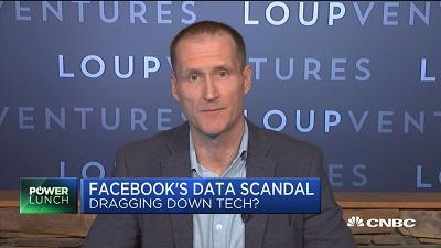 Gene Munster, Loup Ventures, discusses Facebook's data scandal helping cause volatility in the overall tech sector.