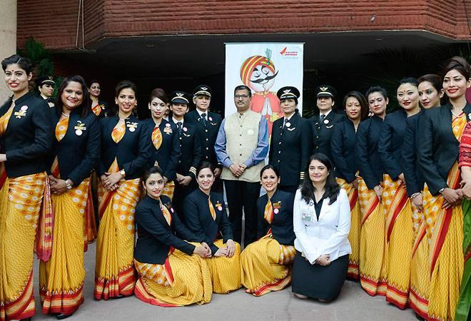 Air India breaks all records by flying around the world with an all-women crew