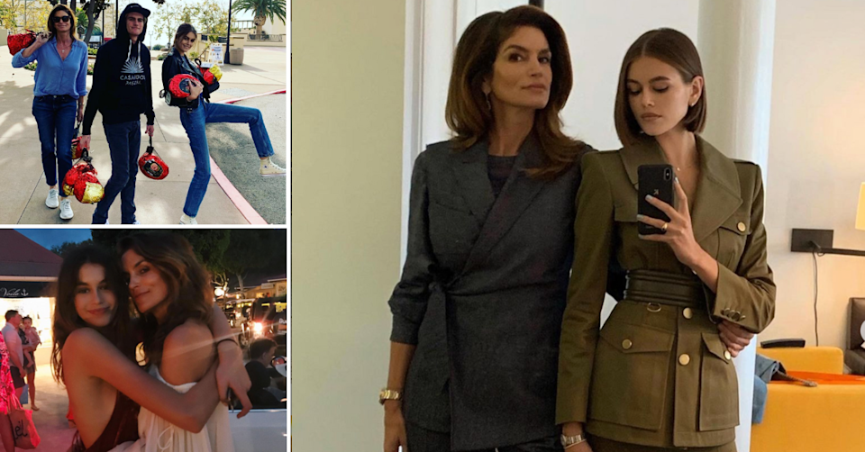 Model Cindy Crawford and daughter Kaia
