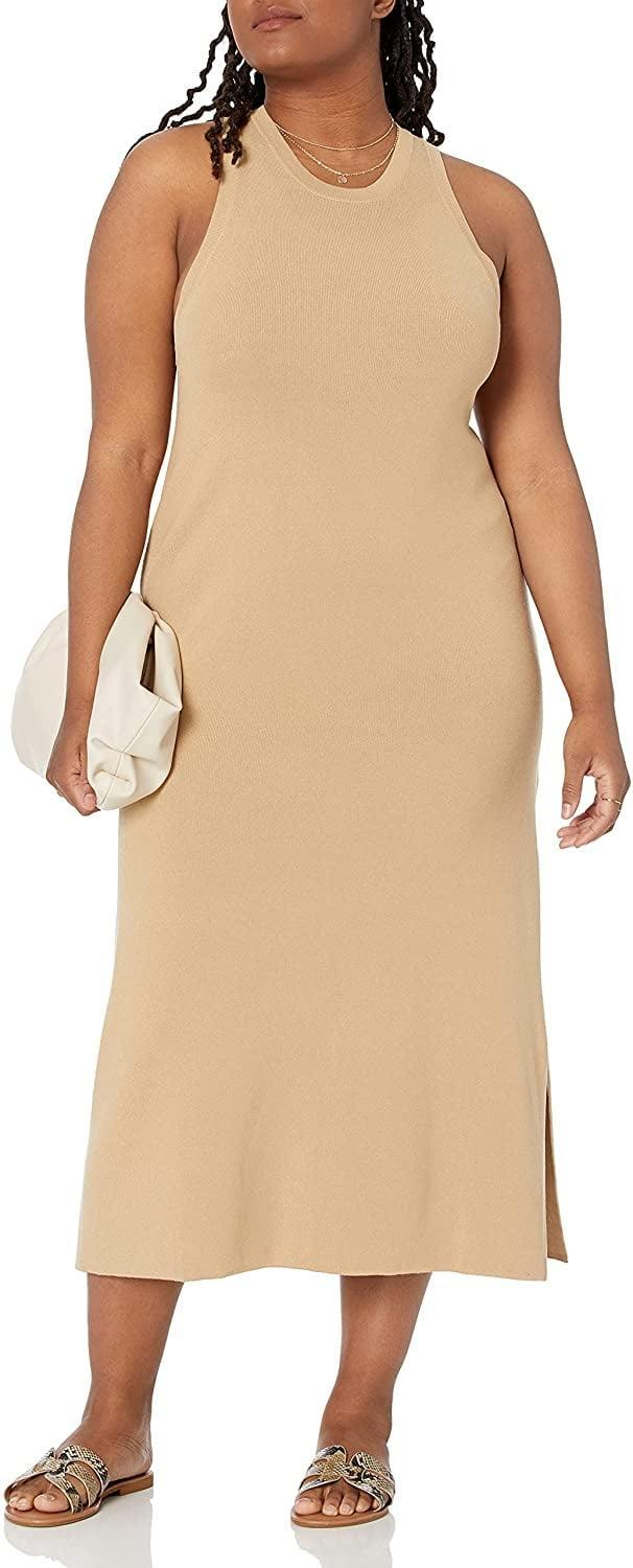 <p>This <span>The Drop Gabriela High Neck Cut-In A-Line Side Slit Maxi Sweater Dress</span> ($50) will likely have a permanent spot in your closet, because it can be worn year-round. For a fall-ready look, throw on a camel coat for a stunning monochrome moment.</p>