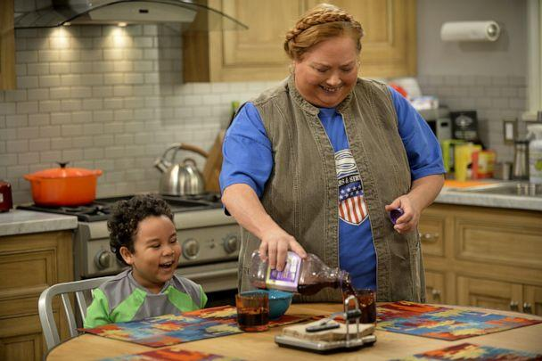 PHOTO: Edan Alexander, as Louis, and Conchata Ferrell, as Berta in a scene from 'Two and a Half Men.' (CBS Photo Archive via Getty Images)