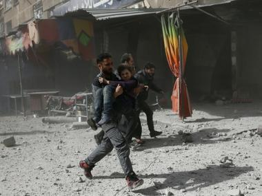 Syrian regime jets kills over 220 in four-day assault on rebel enclave in Damascus