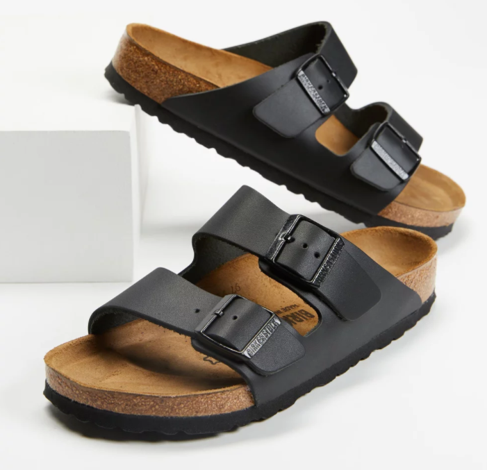 Birkenstock Arizona Smooth Leather Regular Sandals, $164, from The Iconic. Photo: The Iconic.