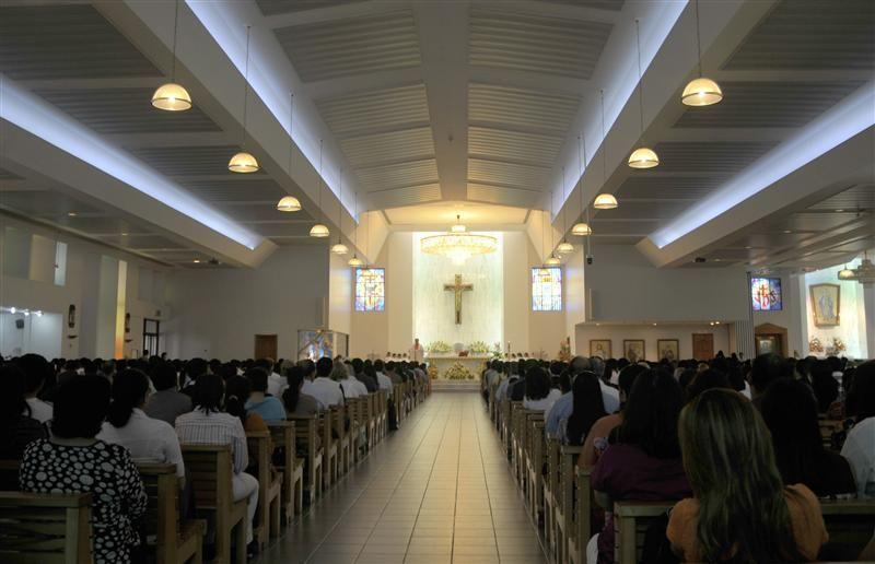 Devotees attend Easter mass at St. Mary's Catholic Church in Dubai