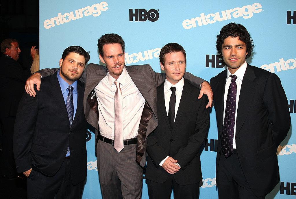 "Speaking of ""Entourage,"" the cast -- Jerry Ferrara, Kevin Dillon, Kevin Connolly, and Adrian Grenier -- hit the red carpet for the fifth season premiere of the HBO hit in New York City. Jason Kempin/<a href=""http://www.wireimage.com"" target=""new"">WireImage.com</a> - September 3, 2008"