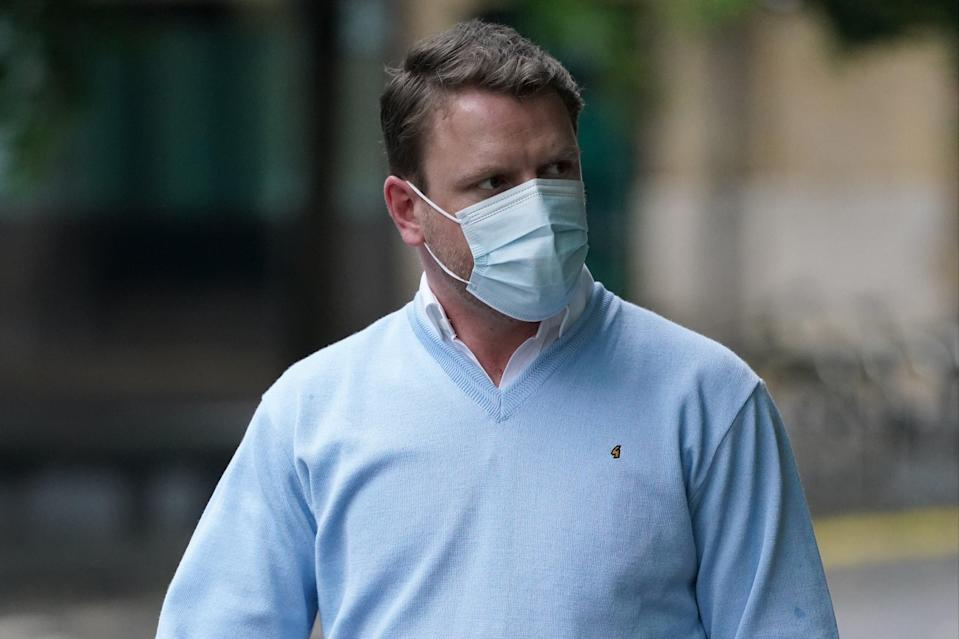 Paul Ritchie arriving at Southwark Crown Court in London (PA)