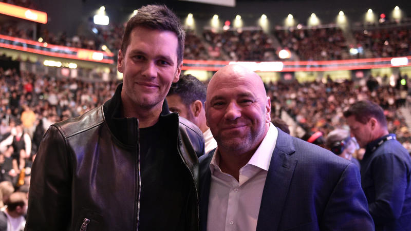 UFC president Dana White is trying to bring Tom Brady to the Las Vegas Raiders. (Chris Unger/Zuffa LLC via Getty Images)