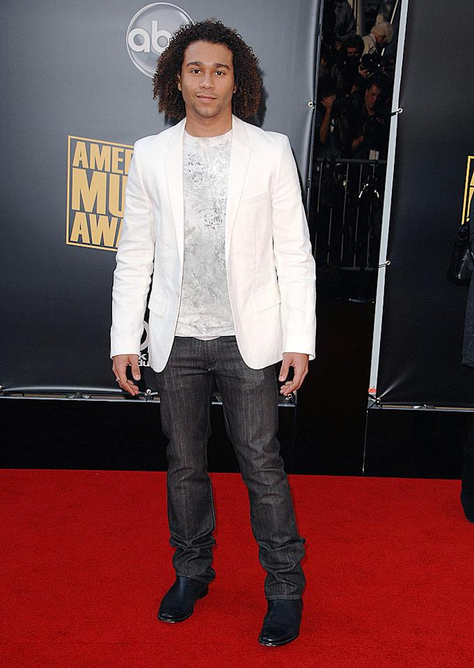 "Ashley's costar, Corbin Bleu, looks so much better with his hair pulled back. Unfortunately, he donned a white jacket that looked like it belonged on a cater waiter. Steve Granitz/<a href=""http://www.wireimage.com"" target=""new"">WireImage.com</a> - November 23, 2008"