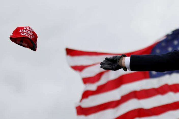 FILE PHOTO: U.S. President Trump holds campaign rally in Waterford Township, Michigan