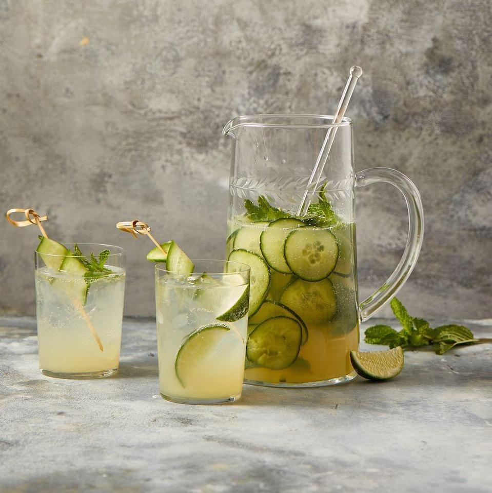 """<p>Dry, herbal gin and sweet, floral elderflower liqueur are just meant to be together, like the 4th of July and fireworks!</p><p><em><a href=""""https://www.goodhousekeeping.com/food-recipes/a35335655/elderflower-gin-cocktail-recipe/"""" rel=""""nofollow noopener"""" target=""""_blank"""" data-ylk=""""slk:Get the recipe for Elderflower Gin Cocktail »"""" class=""""link rapid-noclick-resp"""">Get the recipe for Elderflower Gin Cocktail »</a></em></p>"""