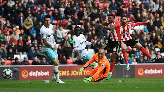 Sunderland are inching closer to relegation from the Premier League despite rescuing a 2-2 home draw with West Ham at the Stadium of Light.