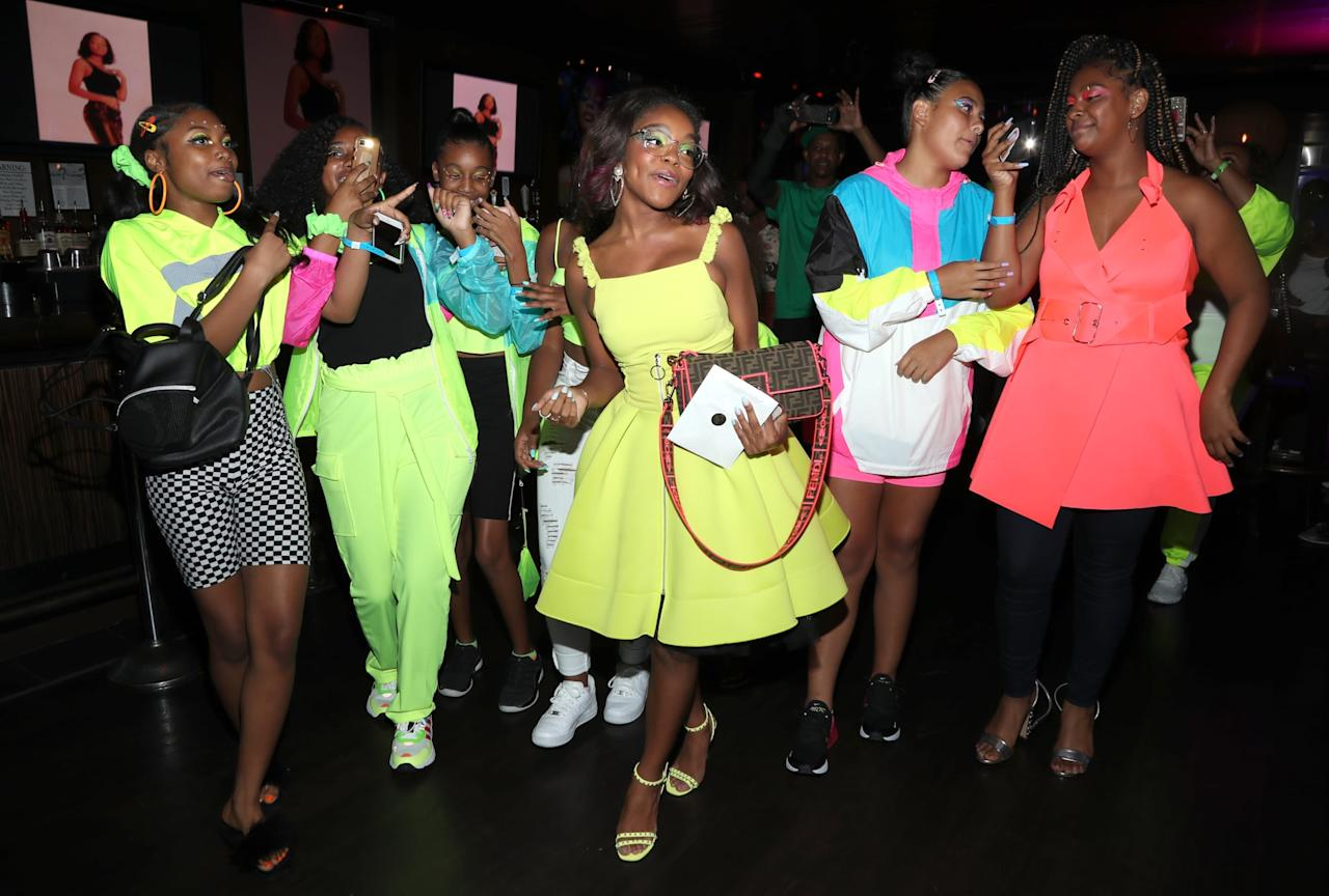 "<p>The <strong>Black-ish</strong> star turned 15 on Aug. 14, and she recently celebrated with a neon-themed bash in LA. The party included a bunch of treats, a large tic-tac-toe board, and it was basically a teenage dream.<br> <a href=""https://www.popsugar.com/celebrity/marsai-martin-15th-birthday-party-photos-46573837"" class=""shopnow ga-track"" target=""_blank"" data-ga-category=""Related"" data-ga-label=""https://www.popsugar.com/celebrity/marsai-martin-15th-birthday-party-photos-46573837"" data-ga-action=""In-Line Links"">Read More</a></p>"