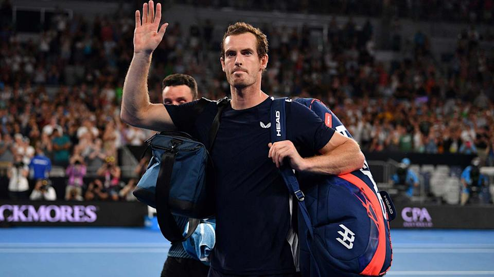 Andy Murray, pictured here after a loss at the Australian Open in 2019.