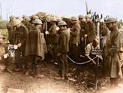 <p>New Zealanders walking wounded at the Battle of Broodseinde ridge, the most successful Allied attack of Passchendaele. (Tom Marshall/mediadrumworld.com) </p>