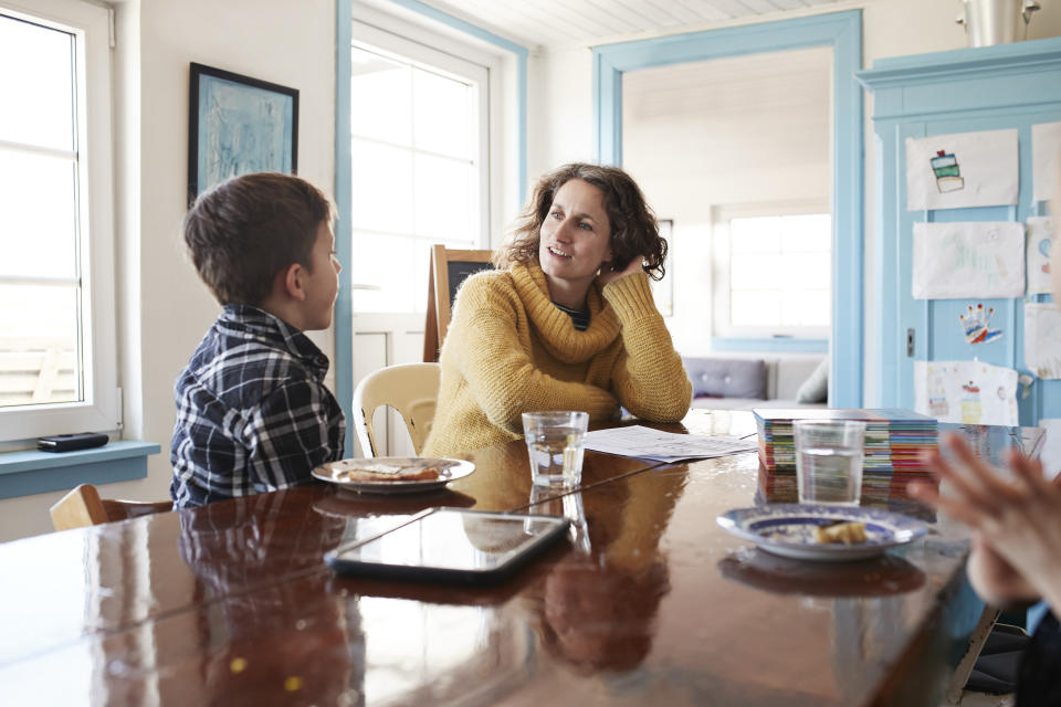Talk to your kids about password safety. (Photo: Getty)