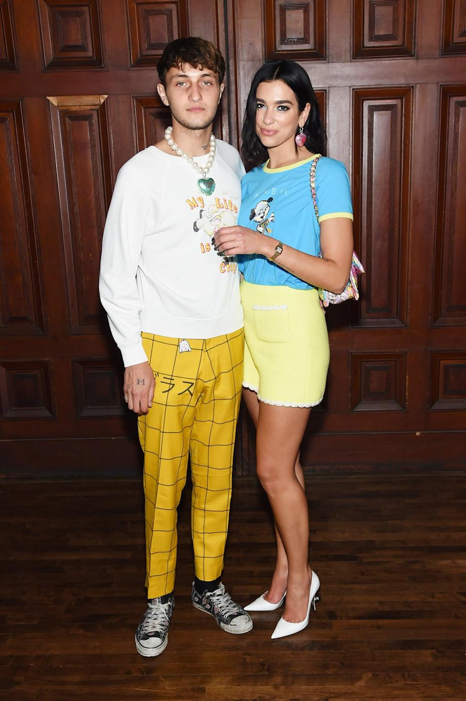 <p>Wearing coordinating Marc Jacobs outfits at the designer's spring 2020 show.</p>