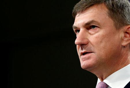 FILE PHOTO: EU Commission Vice-President Ansip holds a news conference in Brussels