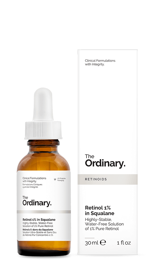 "<h3>Retinol Serum 1% in Squalane<br></h3> <br>Schueller has <a href=""https://www.refinery29.com/en-us/the-ordinary-retinol-retinoid-review"" rel=""nofollow noopener"" target=""_blank"" data-ylk=""slk:already praised"" class=""link rapid-noclick-resp"">already praised</a> this formulation for disclosing exactly how much retinol is inside and for being water-free (which helps stabilize the ingredient). We like the way this clear, emollient gel glided onto our skin — which is no stranger to retinoids — without irritation. It took a few minutes for the formula to totally absorb into our skin, so there was no slapping it on right before we hit the pillow, but after a two-minute whirl with our Sonicare and a quick flossing of the teeth, our skin was ready to hit the sheets without mucking them up. (If you're especially sensitive to retinol, The Ordinary also makes a <a href=""https://us.lookfantastic.com/the-ordinary-retinol-serum-0.5-in-squalane-30ml/11638502.html"" rel=""nofollow noopener"" target=""_blank"" data-ylk=""slk:0.5% Retinol in Squalane"" class=""link rapid-noclick-resp"">0.5% Retinol in Squalane</a> formula.)<br><br><strong>The Ordinary</strong> Retinol 1% in Squalane, $, available at <a href=""https://go.skimresources.com/?id=30283X879131&url=https%3A%2F%2Ftheordinary.com%2Fproduct%2Frdn-retinol-1pct-in-squalane-30ml%3Fredir%3D1"" rel=""nofollow noopener"" target=""_blank"" data-ylk=""slk:The Ordinary"" class=""link rapid-noclick-resp"">The Ordinary</a><br>"