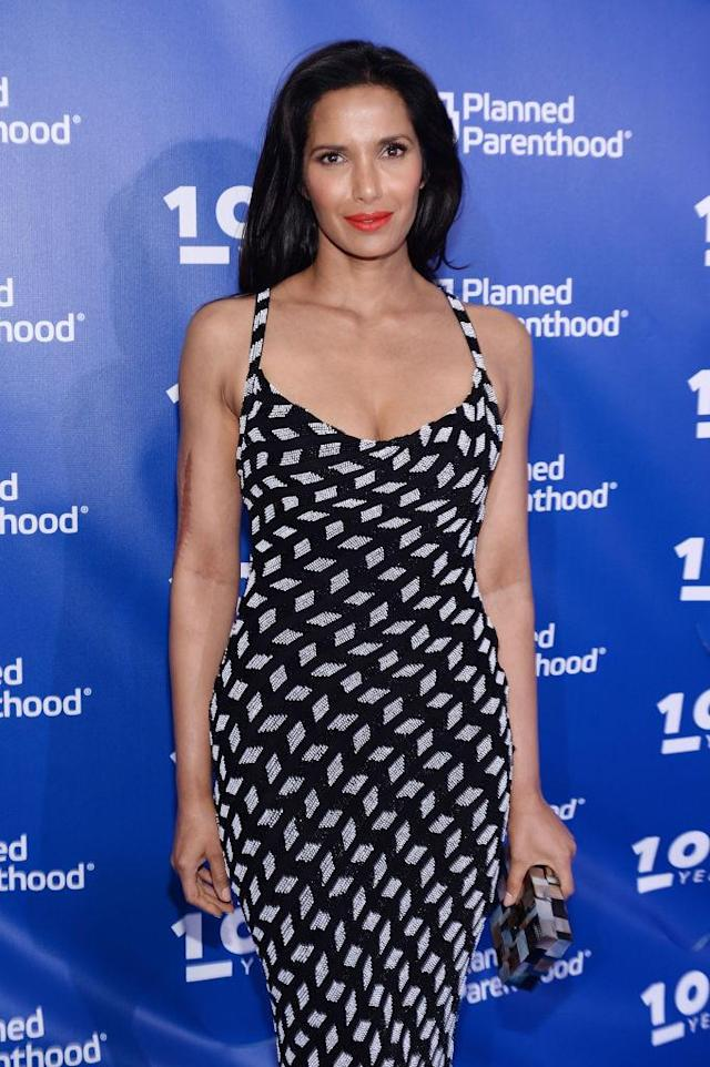 Padma Lakshmi attends the Planned Parenthood 100th Anniversary Gala on May 2, 2017, in New York. (Photo: Andrew Toth/Getty Images)