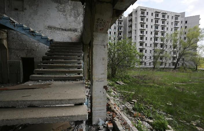 In the 1980s apartment buildings, a department store and all the necessary infrastructure were built at Orbita, but the disaster at Chernobyl ended the work (AFP Photo/Aleksey Filippov)