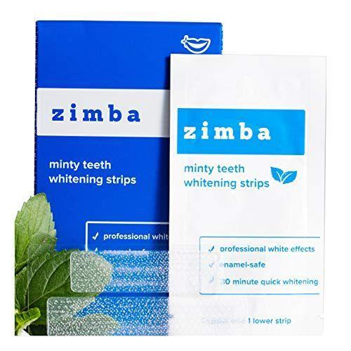 """<p><strong>Zimba</strong></p><p>amazon.com</p><p><strong>$24.99</strong></p><p><a href=""""https://www.amazon.com/dp/B07QC8LFQP?tag=syn-yahoo-20&ascsubtag=%5Bartid%7C2139.g.33486702%5Bsrc%7Cyahoo-us"""" rel=""""nofollow noopener"""" target=""""_blank"""" data-ylk=""""slk:Shop Now"""" class=""""link rapid-noclick-resp"""">Shop Now</a></p><p>Zimba white strips also use a gentle chemical formula, making them one of the best teeth-whitening kits for sensitive teeth. These white strips are slick (no gel or goop) and come in tasty coconut and mint flavors. </p>"""