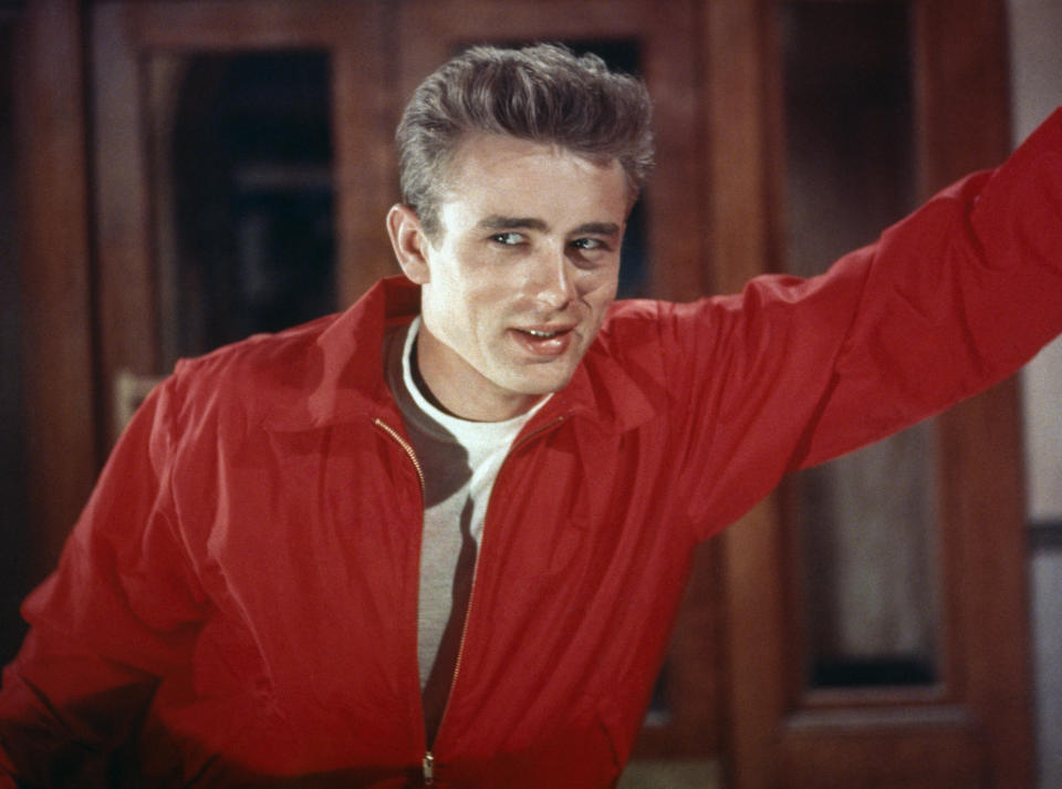 American actor James Dean on the set of Rebel Without a Cause, directed by Nicholas Ray. (Photo by Sunset Boulevard/Corbis via Getty Images)