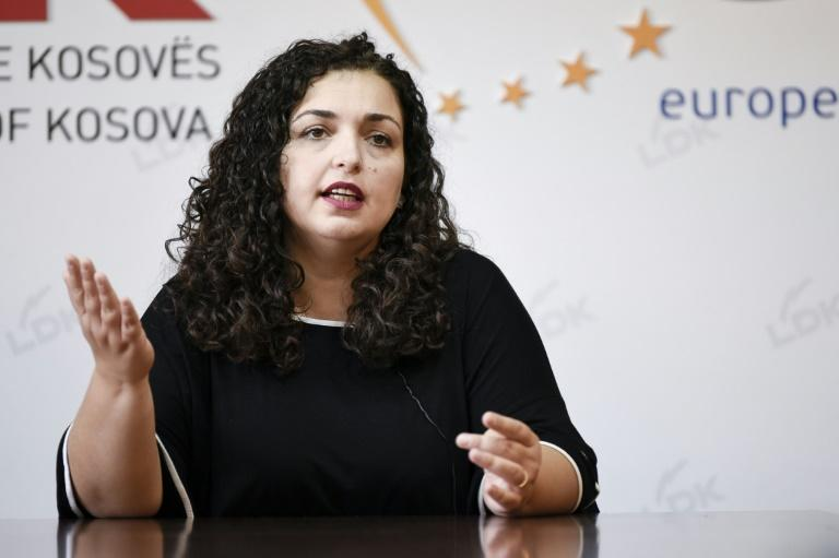 Should Osmani, who says her gender is an asset, achieve her goal in October 6 elections, that would comprise a radical change in a deeply patriarchal society (AFP Photo/Armend NIMANI)