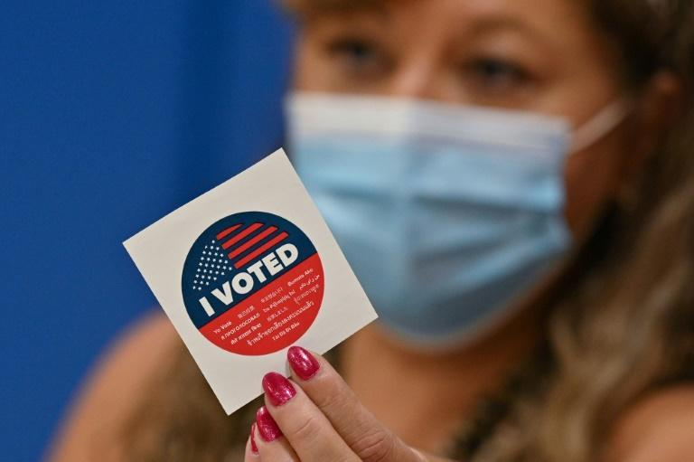 Mask mandates and pandemic lockdowns spurred the recall vote in California (AFP/Robyn Beck)