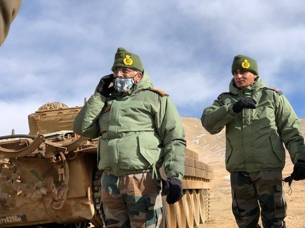 Army chief General MM Naravane reached Leh on Wednesday on a one-day visit to Fire and Fury Corps.