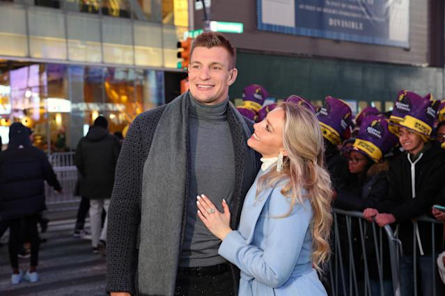 Rob Gronkowski had a good time during a New Year's Eve celebration. (Photo by Manny Carabel/FilmMagic)