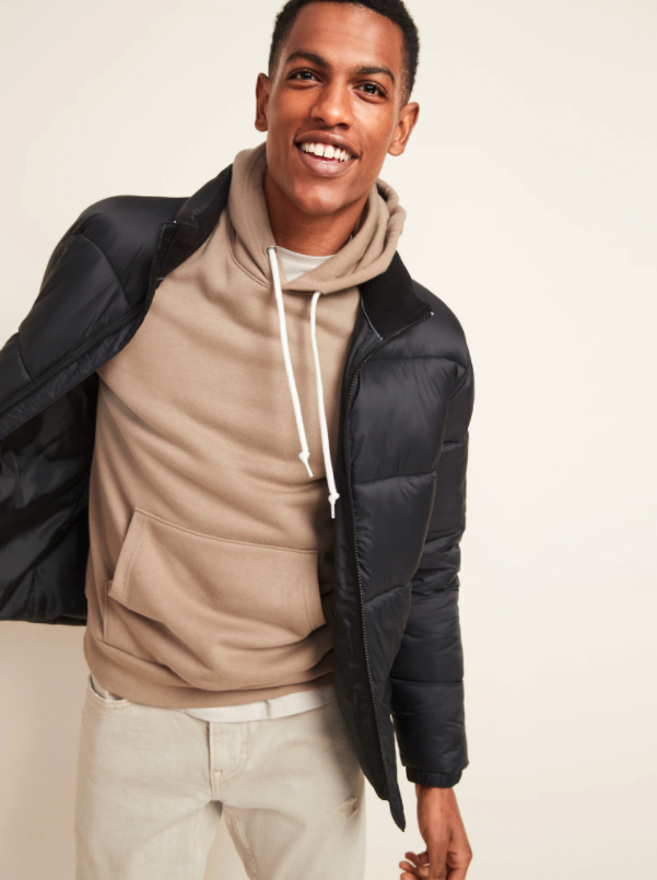 Frost-Free Zip-Front Puffer Jacket. Image via Old Navy.