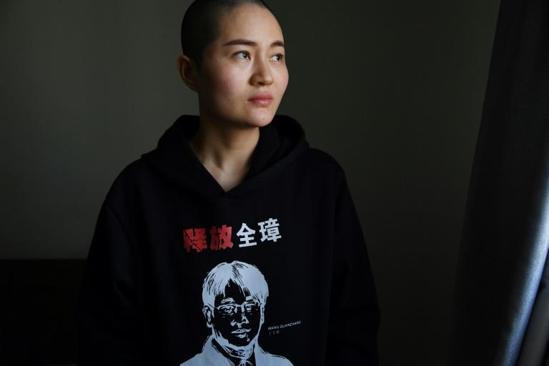 Li Wenzu, the wife of lawyer Wang Quanzhang who was sentenced to four and a half years in prison in January
