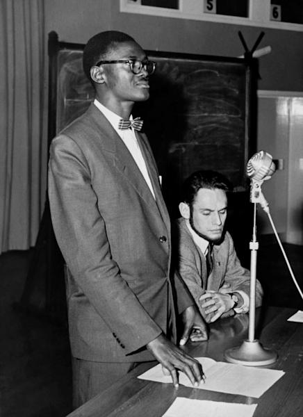 Seen here in 1960, Patrice Lumumba had two and half months as prime minister before being ousted and executed in January 1961 (AFP Photo/-)