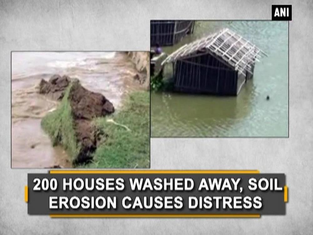 At least 200 houses have been swept away and around ten villages are submerged in water as soil erosion and rains continue to wreck havoc in West Bengal's Malda District. Villages along Farakka Barrage across Ganga river are worst affected, creating trouble for over 22,000 residents. Various parts of the country have been facing incessant rains from past month.