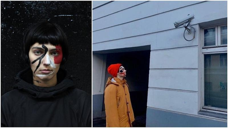 Russian artists wear anti-facial recognition make-up… and get arrested