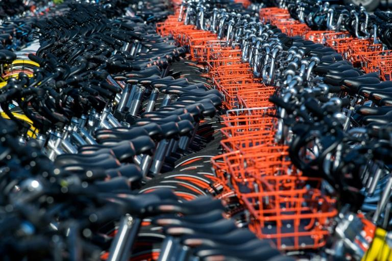 Impounded bicycles from the bike-sharing schemes Mobike and Ofo