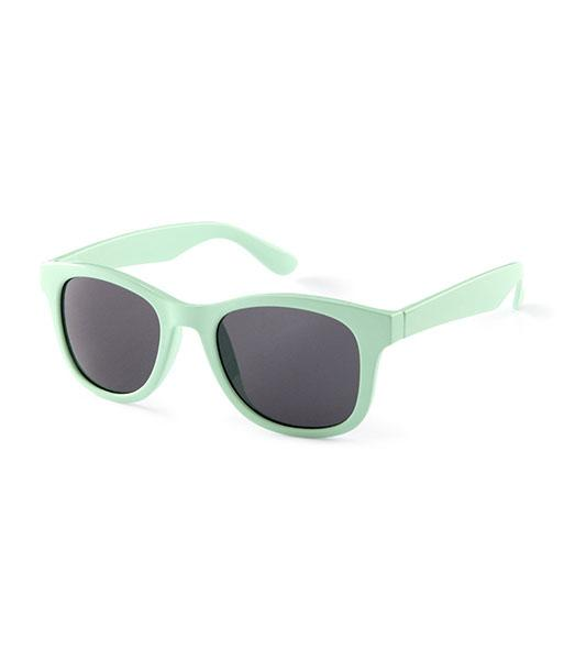 H&M sunglasses, $5.95 - Vampire Weekend frontman Ezra Koenig is a devotee of the RayBan Wayfarer sunnie, but we like these budget-friendly shades in a minty green for spring.
