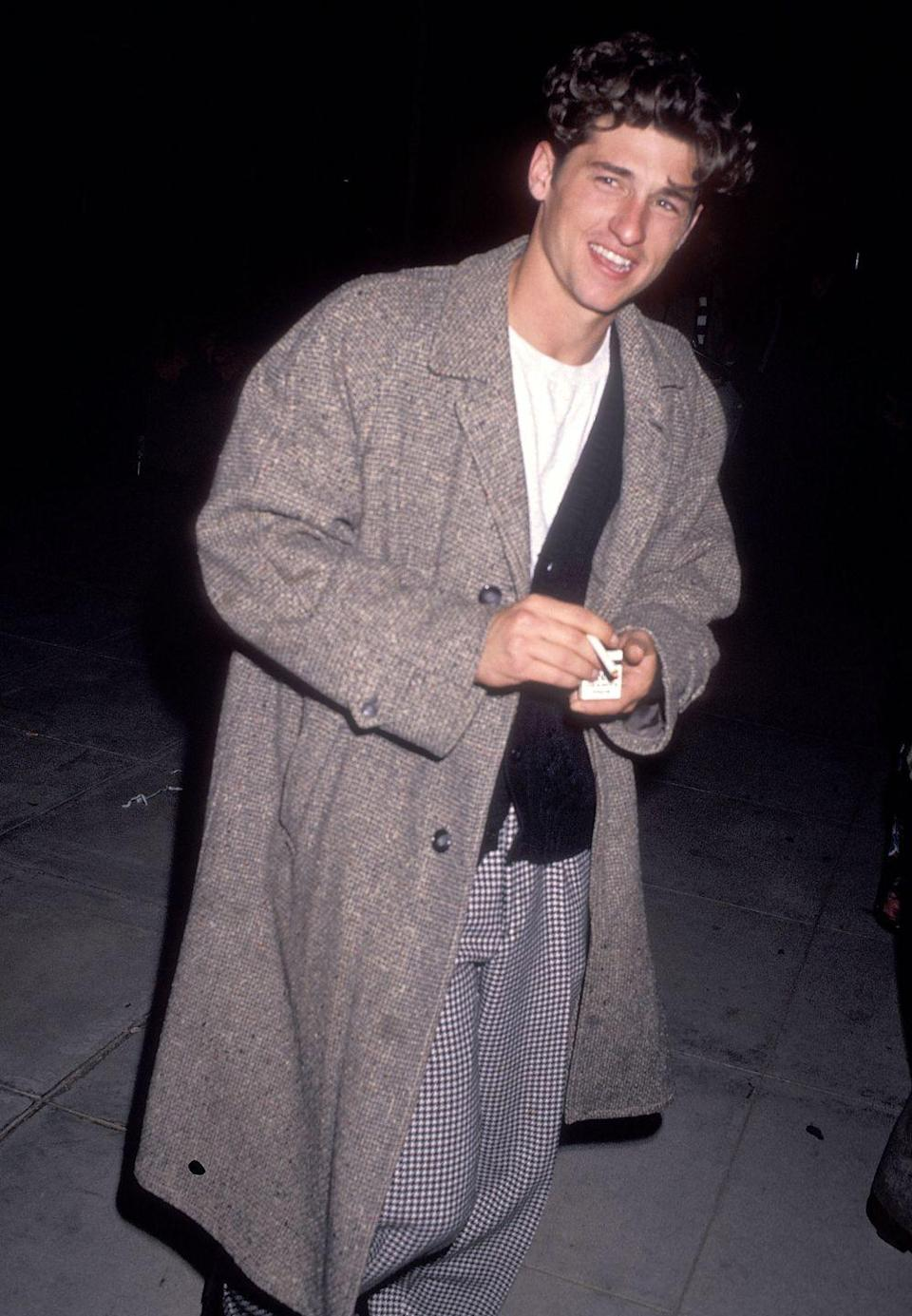 <p>Somehow this T-shirt, cardigan, and long jacket feels extremely Chandler Bing but in a good way? Men in layers are good, whether you're Dempsey, Bing, or neither of the above.</p>