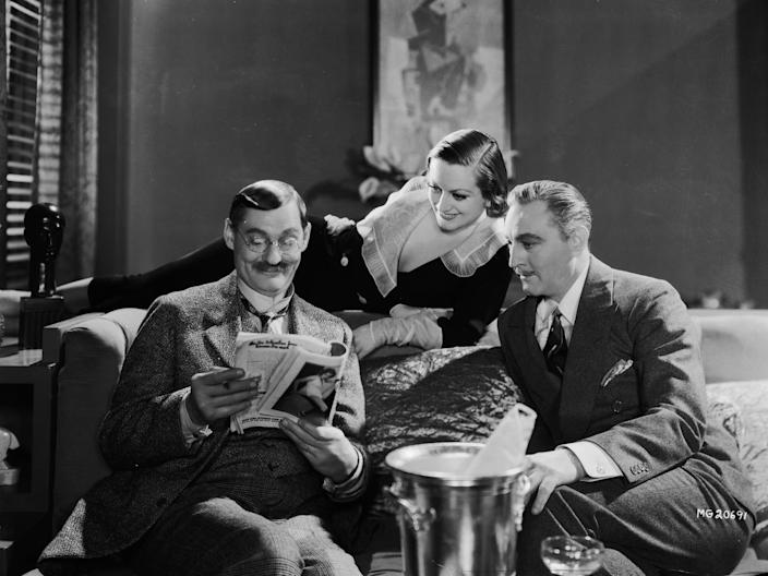 john barrymore lionel barrymore and joan crawford in grand hotel