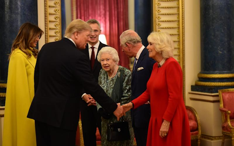 The Queen welcomed Donald Trump to the Palace before the Nato summit - Getty Images Europe