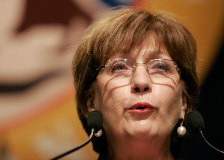 FILE PHOTO: Louisiana Governor Kathleen Blanco speaks during inauguration ceremony for Mayor Ray Nagin in New Orleans